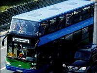 Çift katlı otobüste çifte işkence