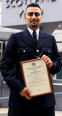 Scotland Yard'tan kahramana ödül