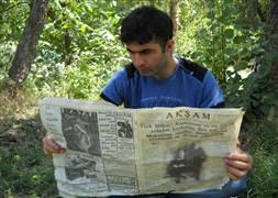72 yıl sonra mağaradan çıkan gazete
