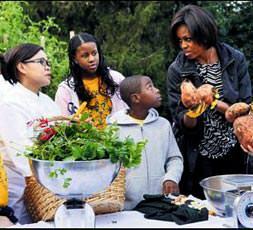Obama annenin bahçesi