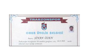 Trabzonspor'la onurlandı