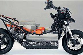 Benzinli gücünde elektrikli scooter