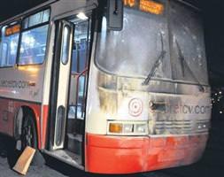 PKK yandaşları otobüs yaktı