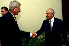 Kılıçdaroğlu Bildt'ı ağırladı
