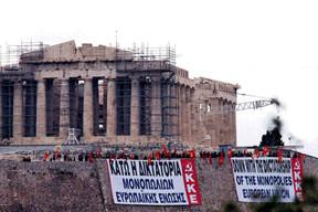 Akropolis işgal altında