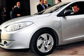 Başbakan'a elektrikli otomobil