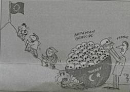 Fransa'da 'sözde soykırım' karikatürü rezaleti