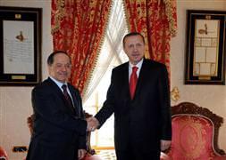 Erdoğan-Barzani görüşmesi başladı