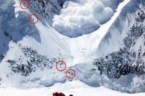 Milli dağcı, tehlikeli 'çığ'ı böyle görüntüledi
