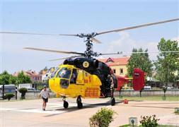 Fethiye'de helikopter düştü