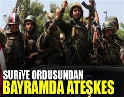 Suriye'de bayram ateşkesi