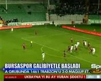 Bursaspor: 2 - 1461 Trabzon: 0 (Özet)