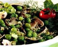 Mantarlı Bezelye Salatası