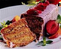 Çilekli Diyet Pasta