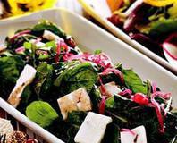 Otlu Peynirli Nar Ekşili Roka Salatası