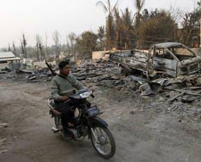 Myanmar'da yine cami kundaklandı