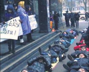 Yatan adam Kiev'de
