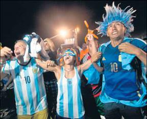 Buenos Aires'te çılgın kutlama