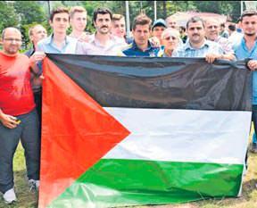 Cuma Namazı'nda Filistin'e destek!