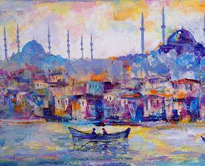 """Fırçadan tuvale """"İstanbul"""""""