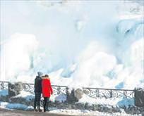 Niagara Şelalesi bir asır sonra dondu