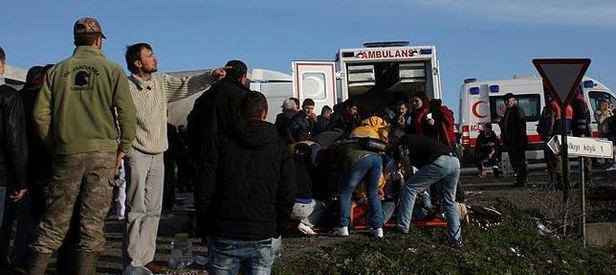 Servis araçları çarpıştı: 2 ölü