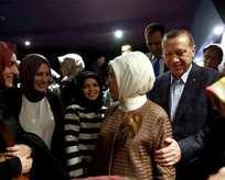 Erdoğan, Bizim Hikaye filmini izledi
