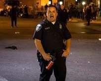 ABD polisinden protestocuya sert müdahale