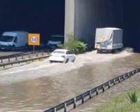 TEM'de su baskını