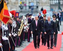 Erdoğan, Belçikada resmi törenle karşılandı