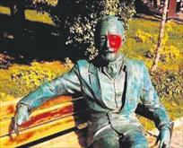 Başkan Sebanın heykeline saldırı düzenlendi