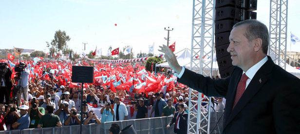 Cumhurbaşkanı Erdoğan Kıbrıs'ta konuştu