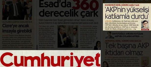Cumhuriyet Gazetesi'nden skandal itiraf