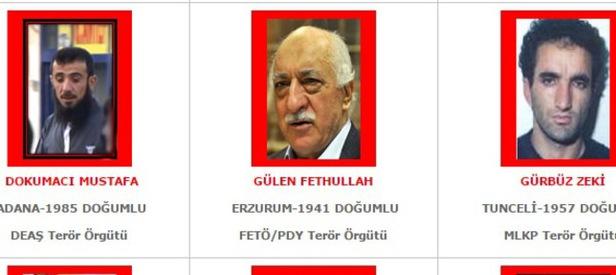 Fetullah Gülen kırmızı listede