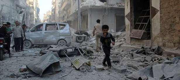 Rus uçakları Halep'te yine sivilleri vurdu!