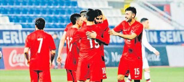 U21'de Güney Kıbrıs'ı farklı yendik: 3-0