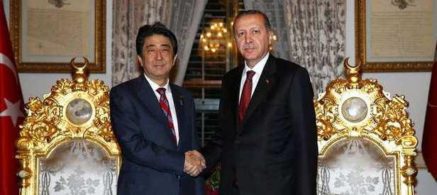 Erdoğan, Japonya Başbakanı Abe'yi kabul etti