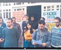 GS Üniversitesi'nde 'ölüm' eylemi