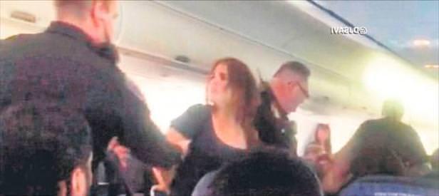 Havada sarhoş yolcu paniği