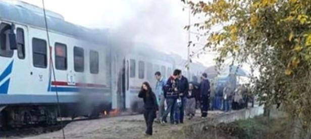 İzmir treninde yangın paniği