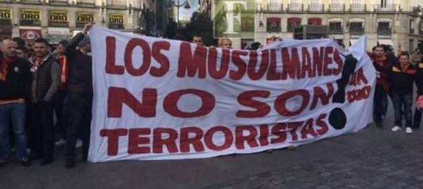 Madrid maçı öncesi anlamlı pankart