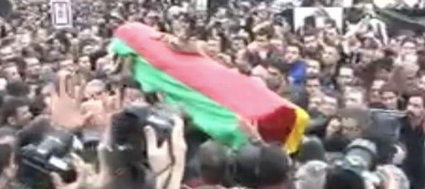 Ayetli örtüyü atıp, PKK paçavrasına sardılar!