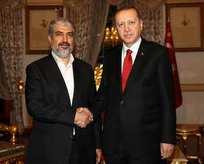 Cumhurbaşkanı Erdoğan Halid Meşal ile görüştü