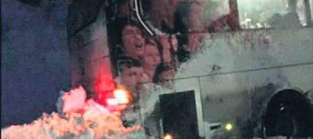 1461 Trabzon otobüsü büyük tehlike atlattı