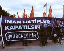 Provokatör grubun nefret pankartı