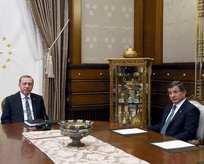 Erdoğan ile Davutoğlu görüşmesi sona erdi