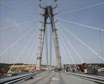 Üçüncü köprünün asfaltı tamam