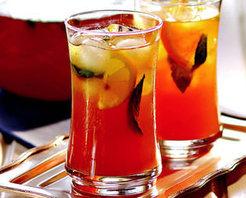 Portakallı Ve Limonlu Buzlu Çay