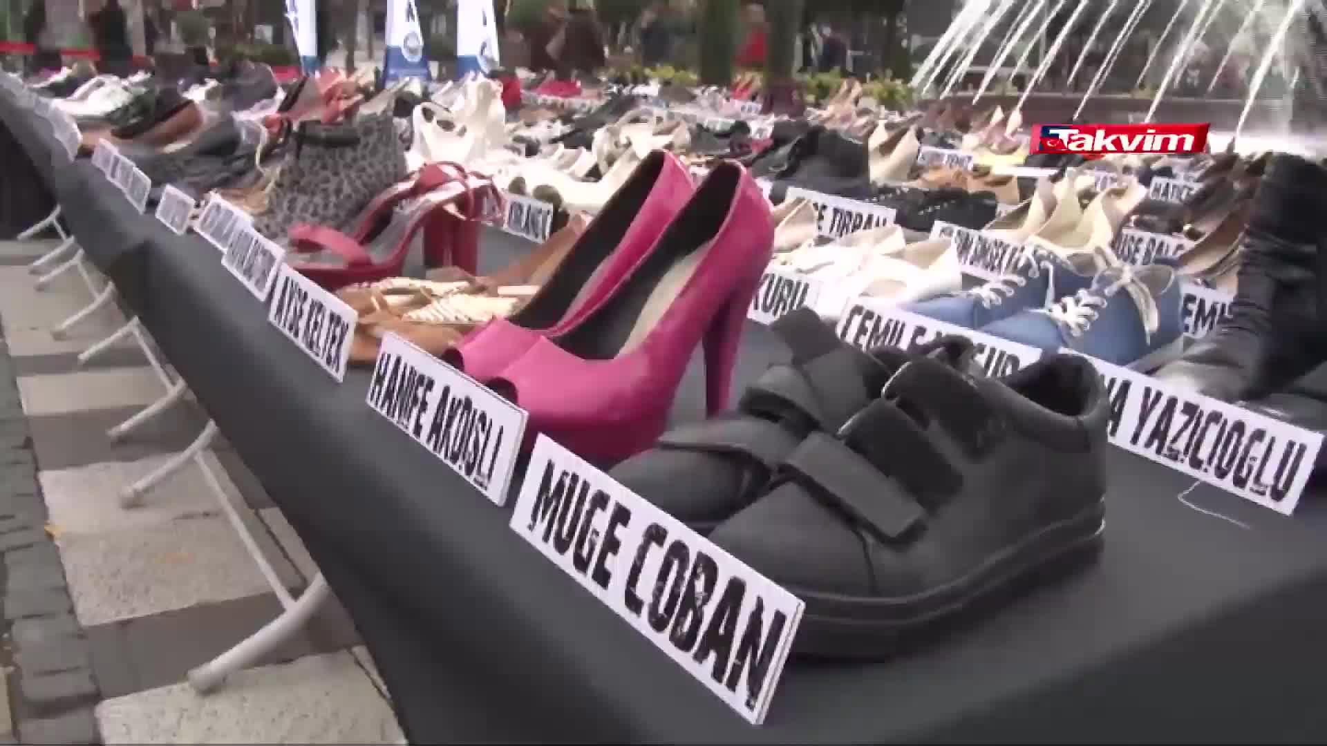 Kadın cinayetine kurban giden 363 kadın, 363 çift ayakkabı... - Haber -  Takvim