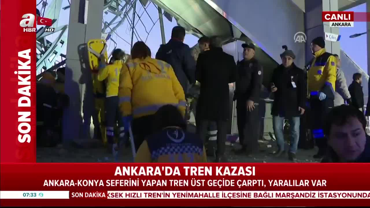 ankarada tren kazası haberi tv kanallar ile ilgili görsel sonucu
